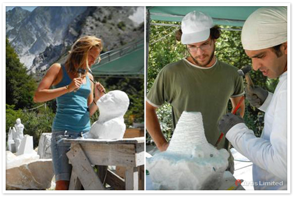 Alnassar Atelier, workshop sculpture in Carrara, Artis Limited