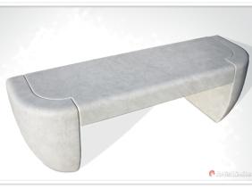 "Artis Limited created stone benche ""Ubaldo"" in granit"