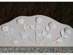 Five roses in marble by Artis Limited