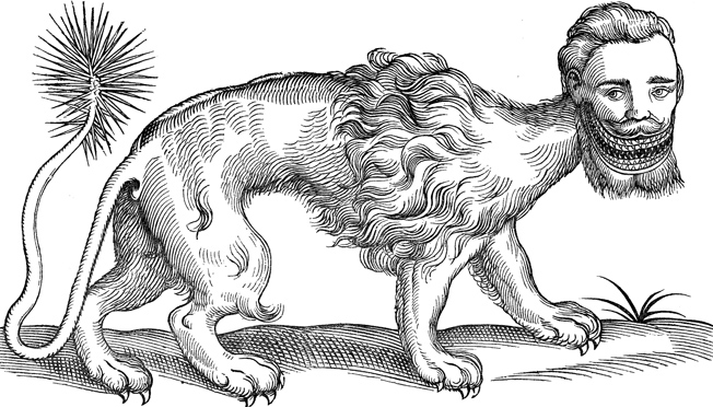 Manticore-Edward-Topsell- The-History-of-Four-Footed-Beasts-1607