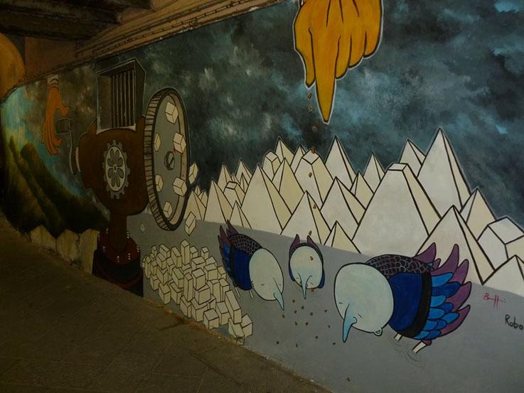 Carrara-Montagne-Tritate-Mural