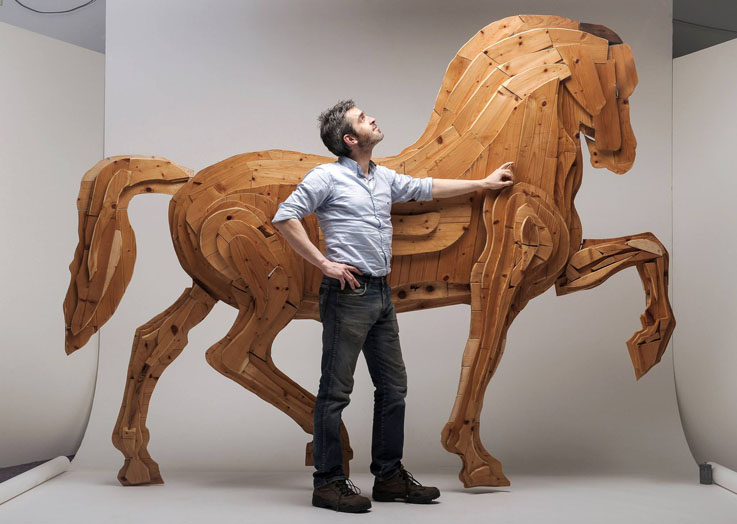 Michele-Simeoni-Horse-Carrara-Marble-Weeks
