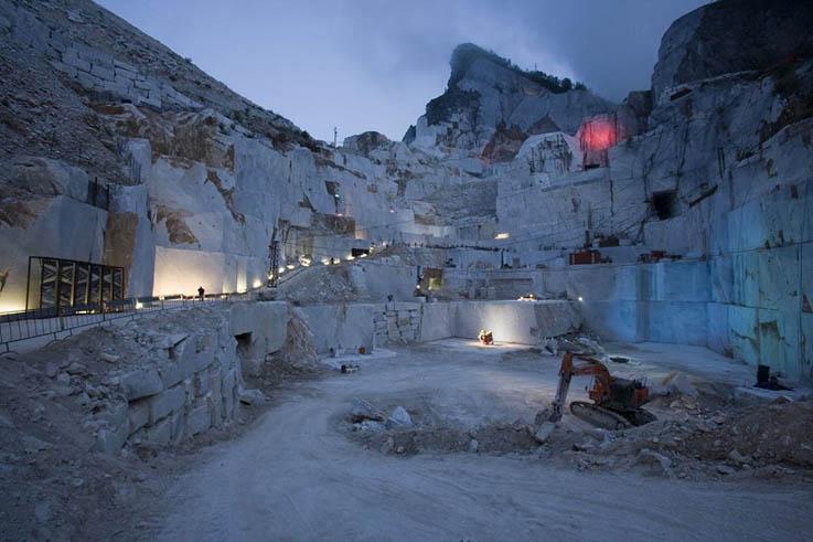 Carrara, a Marble Quarry at Night | Art is Life