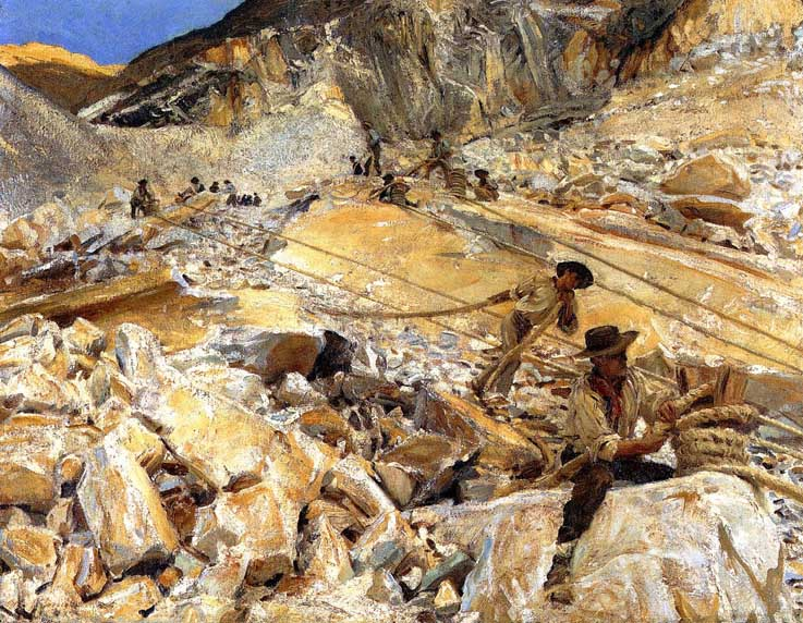 John-Singer-Sargent-bringing-down-marble-from-the-quarries-in-carrara-1911