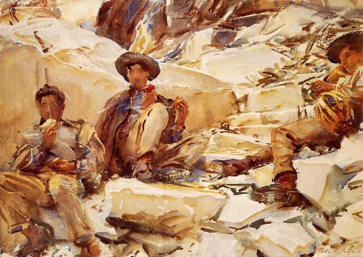 John-Singer-Sargent-Carrara-Workmen