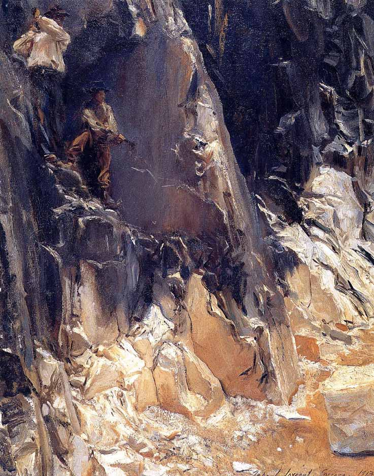 John-Singer-Sargent-marble-quarries-Carrara-1913