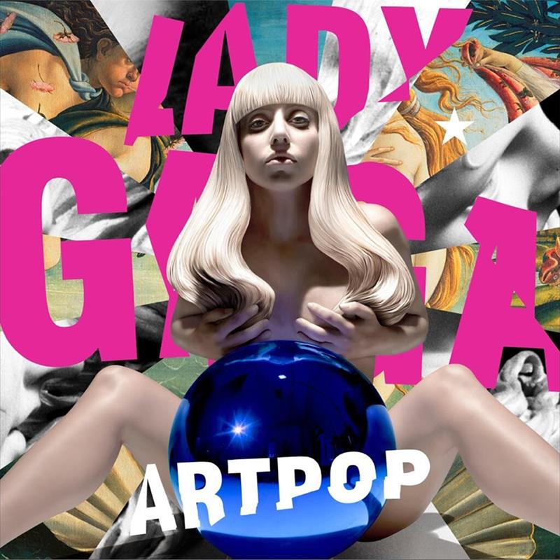 Lady Gaga Artpop album cover by Jeff Koons