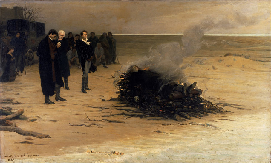 The-Funeral-of-Shelley-by-Louis-Edouard-Fournier