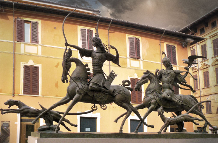 Namdakov-Royal-Ancestors-Sculpture-Pietrasanta