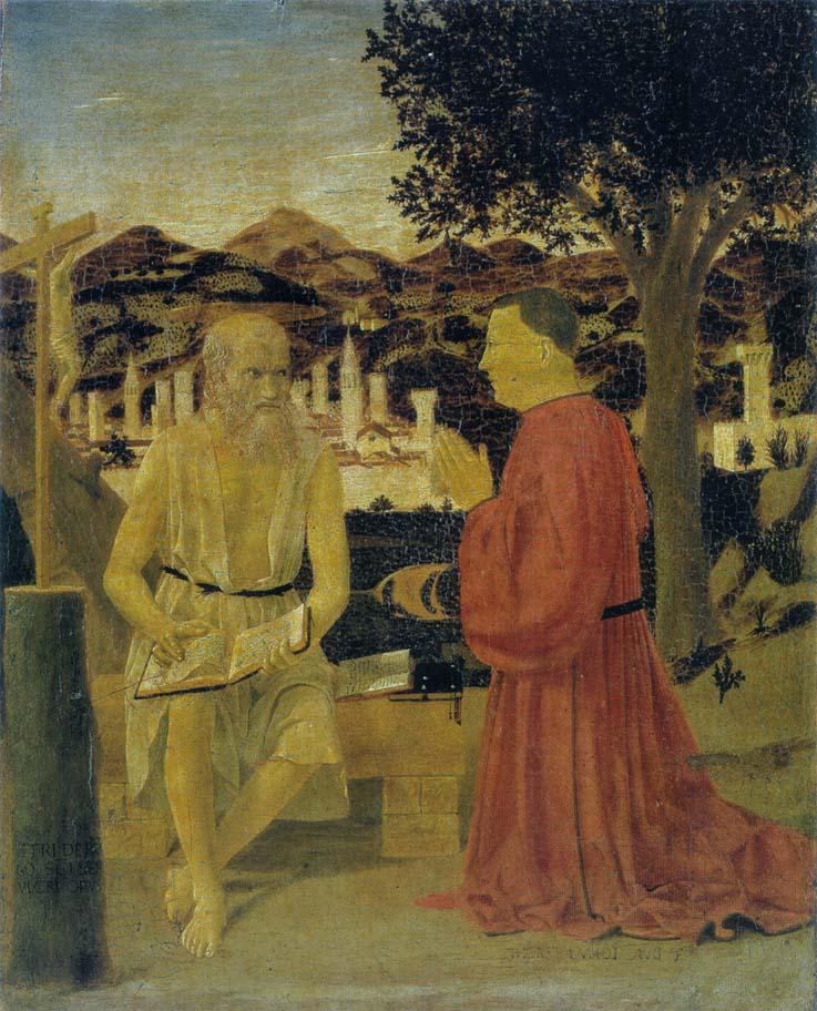Piero-Della-Francesca-San-Girolamo-e-il-Donatore-Venezia-Accademia-1440-50