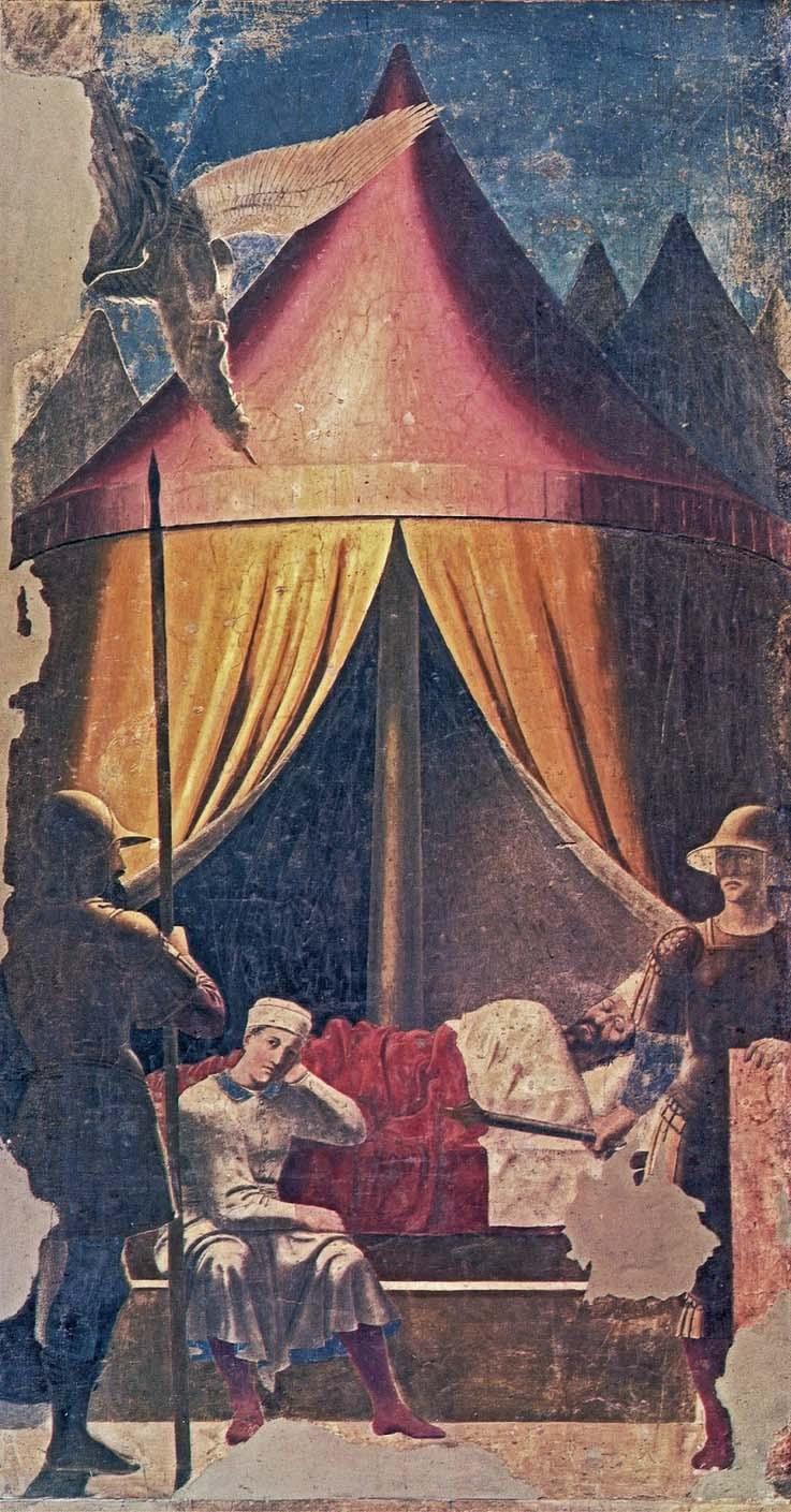 Piero-della-Francesca-The-dream-of-Constantine-1464