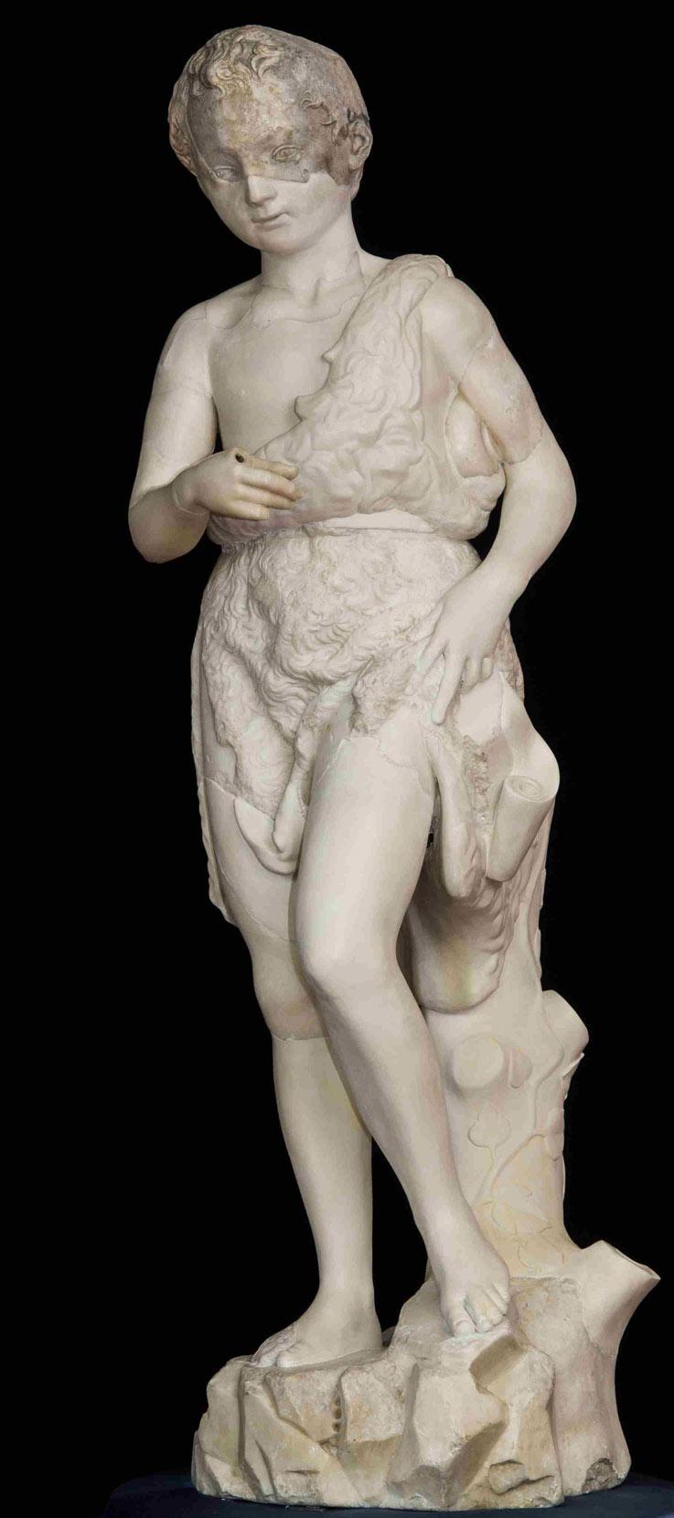Michelangelo-San-Giovannino-Sculpture-Restored