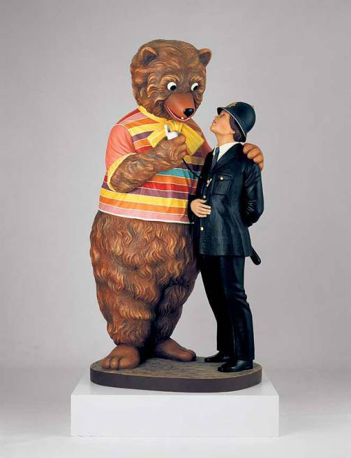 jeff-koons-bear-and-policeman-1988-kunstmuseum-wolfsburg