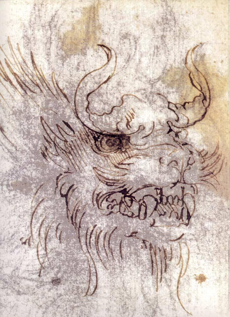 Leonardo-da-Vinci-Study-for-a-Dragon-Costume-1513-detail