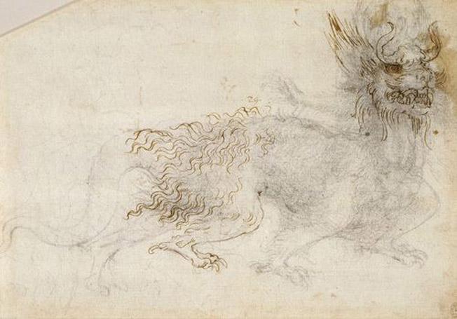 Leonardo-da-Vinci-Study-for-a-Dragon-Costume-1513