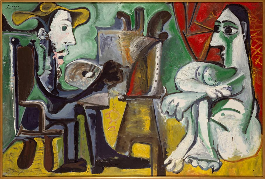 Picasso-The-Painter-and-his-Model-1963